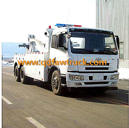 Specialized Vehicle, small wrecker truck FAW 5 Tons Wrecker Truck pictures & photos