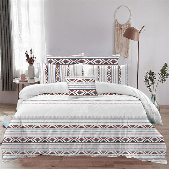 Single Bed Home Textile Cotton Bedding Set Dyed Duvet Cover