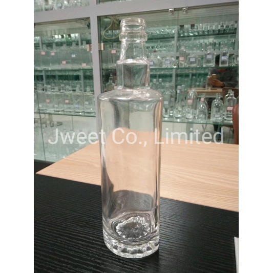 750ml Clear Glass Sake Spirit Glass Bottle Factory Custom