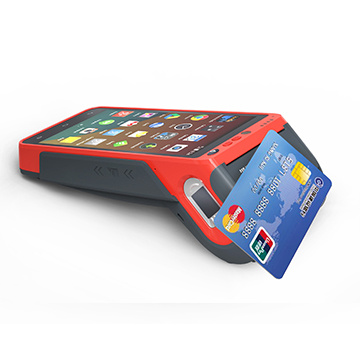 Hand Held Android POS Terminal with Barcode Fingerprinter with EMV