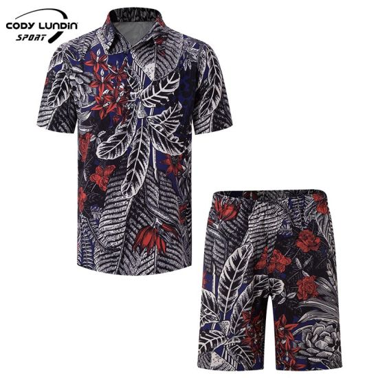 Cody Lundin High Quality OEM Fashion Custom Logo Hawaii Shirt Men Casual Printing Tencel Cotton Polyester Beac