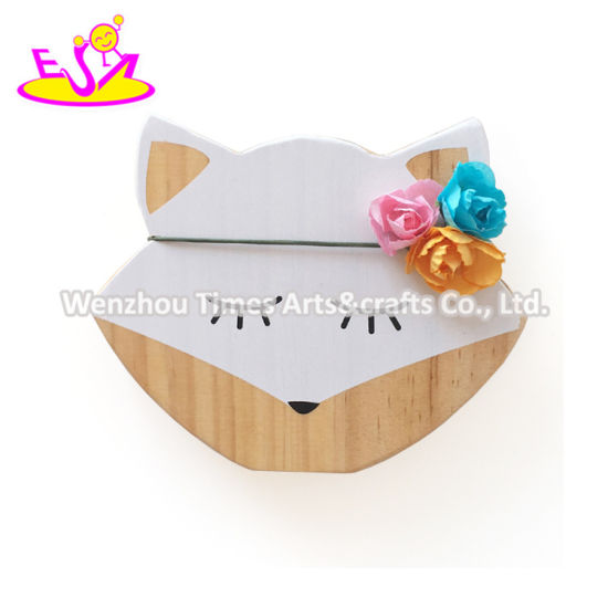 New Arrival Fox Shape Wooden Kids Room Decoration with Low Price W02A365