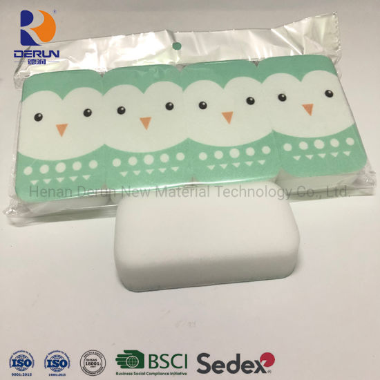 Magic Sponge with Plastic Bag Package White Magic Sponge with Non-Woven Material