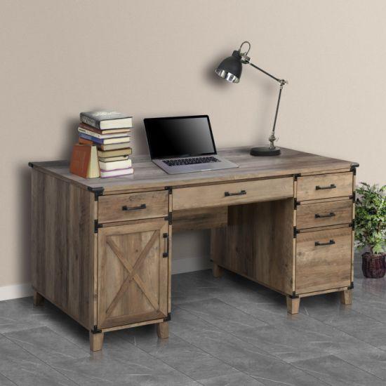 Home Office Furniture Wooden Rustic Oak
