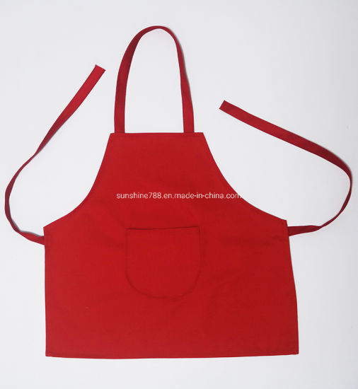 Custom High Quality Children Kids Cooking Painting Red Child Aprons