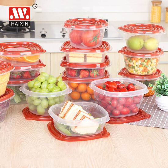 Round Plastic Food Container for Kitchenware and Food Fresh Storage