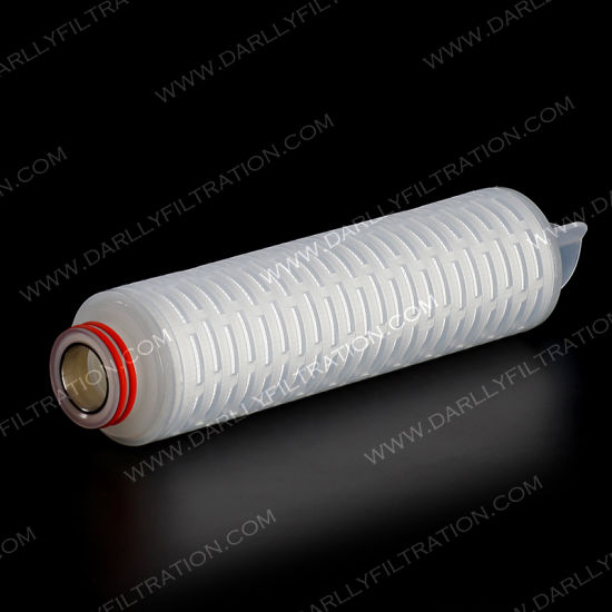 Darlly 0.22um 30inch Pes Pleated Filter Cartridge for Wine Filtration Vodka Filtration Cocacola