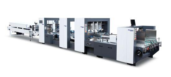 High Speed Carton Folder Gluer Automatic Box Gluing Machine (1200/1450/1600PC)