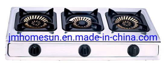 Hot Selling Stainless Steel Cast Iron Three Burner Gas Stove    Item: HS-308  Gas Stove