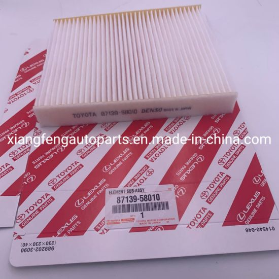 High Performance Cabin Air Filter 87139-58010 for Toyota