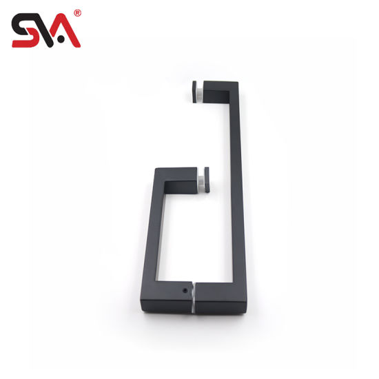 Sva-170A Stainless Steel Shower Black Door Handle for Tempered Glass