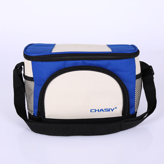 Custom Wholesale Collapsible Polyester Insulated Lunch Box Tote Reusable Cooler Bag for Picnic Promotion Supermarket