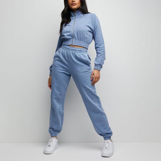High Quality Cotton/Spandex Training Wear 2-Piece Set Women Tracksuits