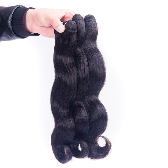 Virgin Brazilian Human Hair Natural Wave14inches pictures & photos