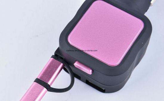 Brand New Cellphones Micro USB Retractable Cable Car Charger with USB Output pictures & photos