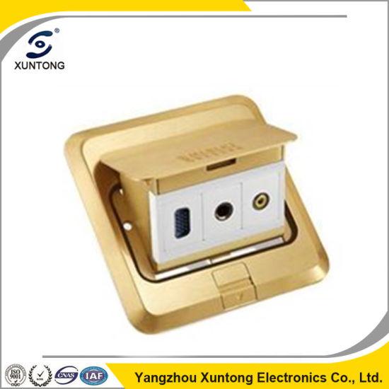 Universal Outlet Type Mltifunction Floor Socket Brass Socket Box
