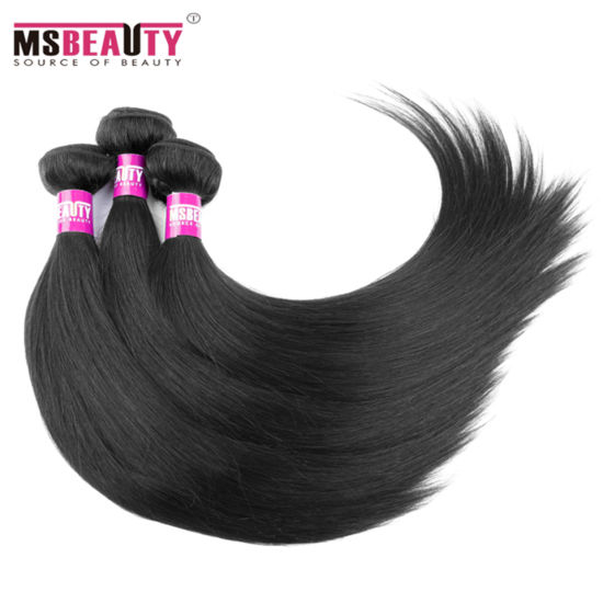 Natural Black Brazilian Virgin Silk Straight Remy Hair pictures & photos