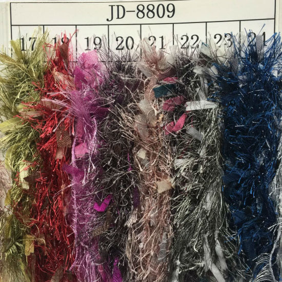 Fancy Paper Feather Yarn Jd8809 pictures & photos