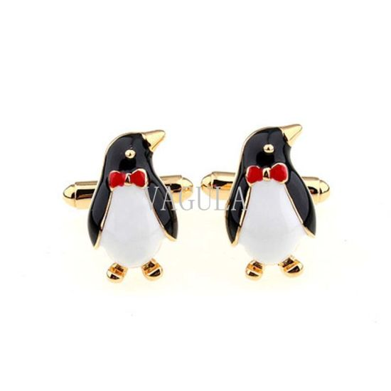 Brass Cufflink Penguin Style Gold Plated Cuff Links 279 pictures & photos