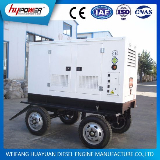 80kVA Trailer Moveable Generator Set Powered by 6 Cylinder Diesel Engine pictures & photos