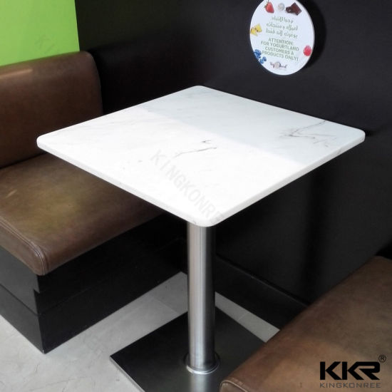China Cafeteria Fast Food Tables And Chairs Restaurant Table Tops - Restaurant marble table tops