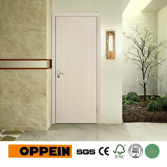 China High Quality Pvc Project Wooden Door White Mdf Interior Door
