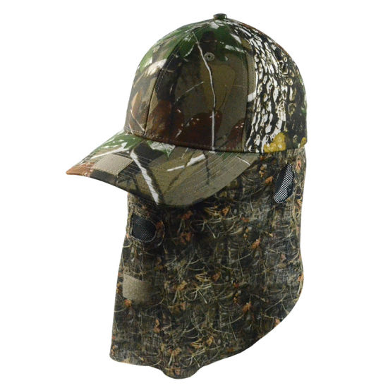 Custom Promotional Cap High Quality Camouflage Snapback Cap Baseball Hat  with Ear Flap Sports Protection bb6fd601e16
