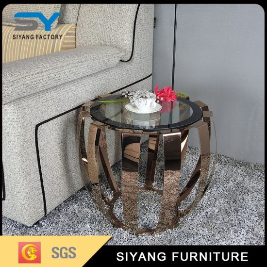 High Quality Mirror Furniture Glass Coffee Side Table