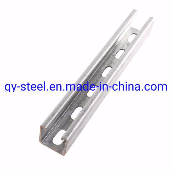 China Supplier Hot Selling Galvanized C Beam Strut Steel C Channel U Channel Price