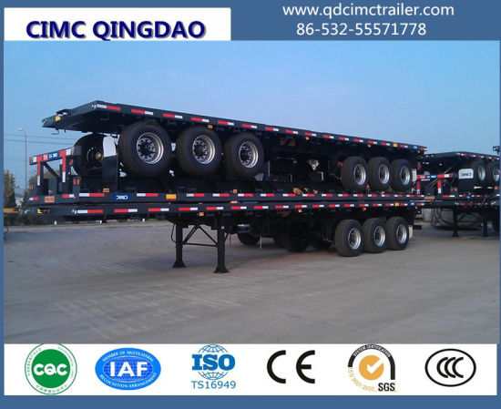 Cimc Tri-Axle Flat Bed Semitrailer 40FT pictures & photos