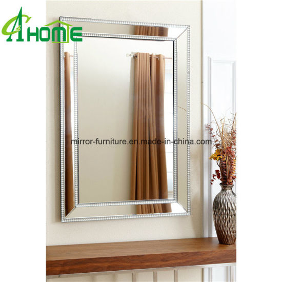 China Fancy Cheaper Living Room Home Decorative Rectangle Wall Mirror China Wall Mirror Oval Mirror