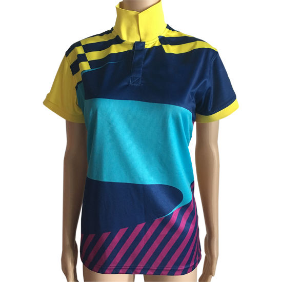 c65c59adc Custom Made-in-China High Quality Low MOQ Dry Fit Sublimation/Sublimated  Soccer Polo Shirt for Women