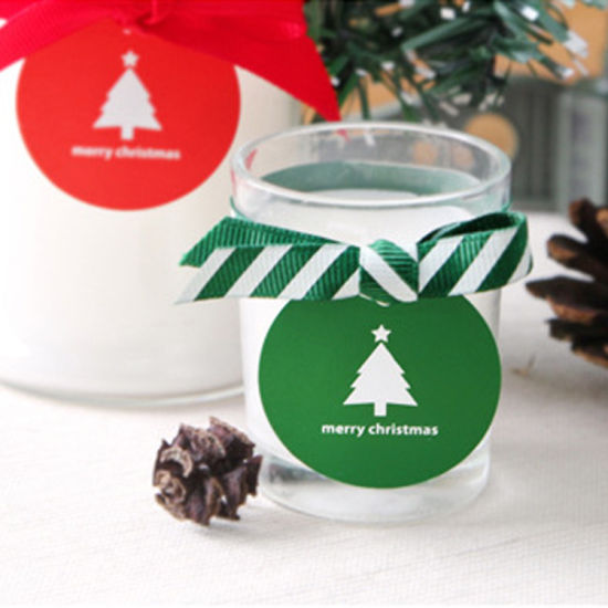 Adhesive Christmas Gift Box Sealing Custom Label Sticker