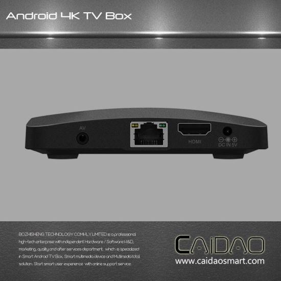 New Arrival WiFi Bt Android 6.0 IPTV Smart TV Box Based on Cortex A53 64bit Processor. 1GB+8GB pictures & photos