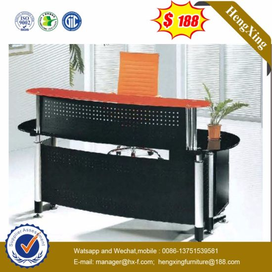 Simple Design Durable Salon Melamine Reception Table (HX-GL209) pictures & photos