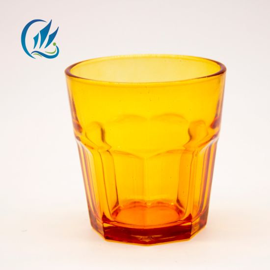 Fancy Shape 200ml Color Customized Glass Water Cup Glass Tumbler
