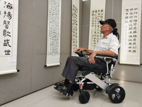 Aluminum Alloy Anti-Backward-Tipping System Handicapped E-Scooter Model E08 Ce, ISO13485