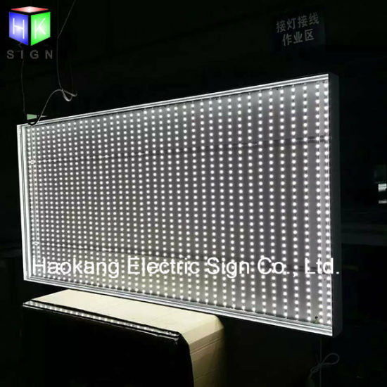 Mobilephone Advertising Display Light Box with Fabric Poster Aluminum Sign pictures & photos