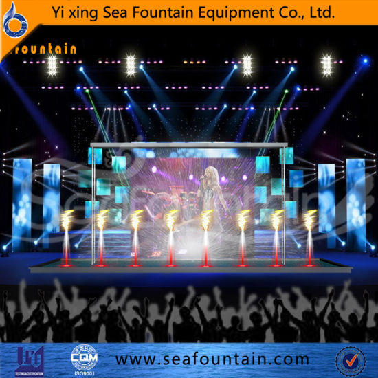 Outdoor Stainless Steel Material Multimedia Music Fountain with Water Screen Movie pictures & photos