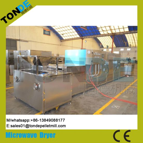 Stainless Steel Mushroom Meat Microwave Drying Sterilizing Machine pictures & photos