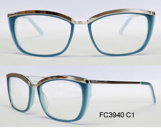 New Good Quality Acetate Optical Frame for Lady with Metal (Ce) Eyewear pictures & photos