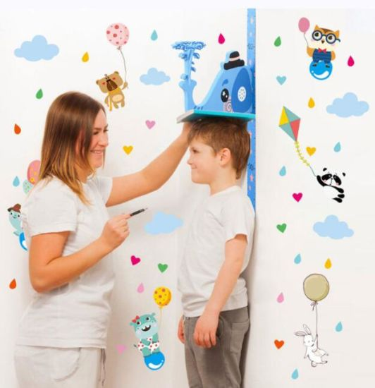 Hot Sale Magnetic Kids Sticker Cartoon Growth Chart Height Meaurement Wall Sticker with Music