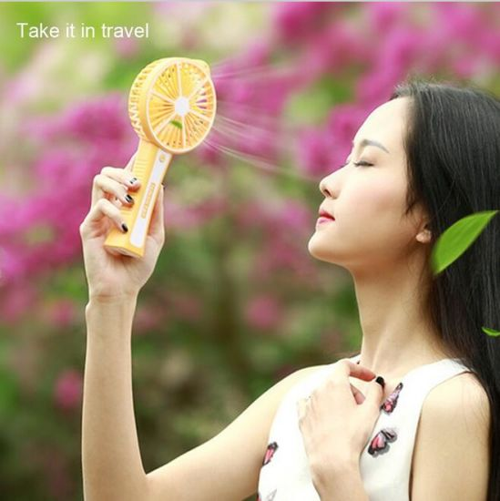 Mini Portable Handheld Lemon Fan Electric Personal Fans Hand Bar Desktop Fan 3 Gear Adjustment for for Home Office Travel pictures & photos