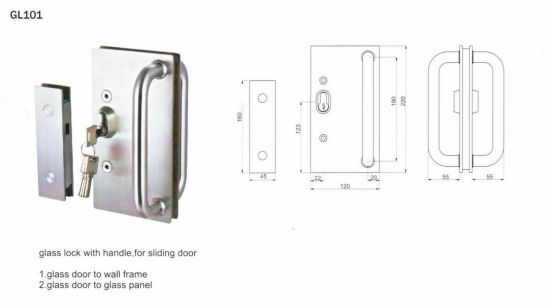 Stainless Steel Lever Handle for Glass Door pictures & photos