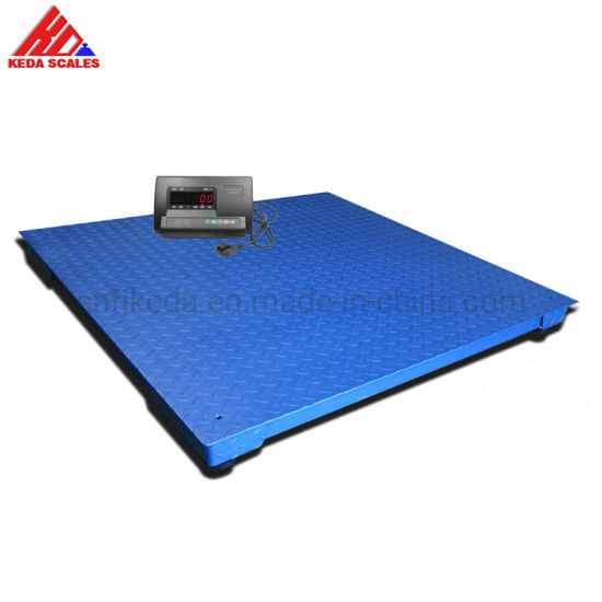 Floor Scale Used for Weighing Pallets in Warehouse