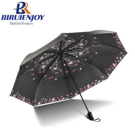 Windproof Fold Women Girl Umbrella for Rain Sunny