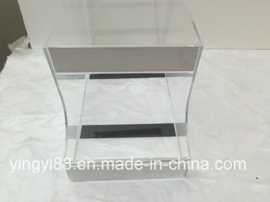 Clear Acrylic Counter Product Display Bin Dispenser Candy Box 2 Label Areas pictures & photos