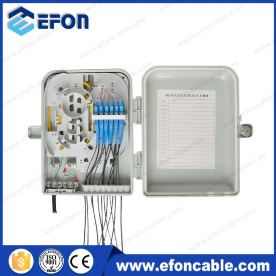 12 Port Fiber Optic Termination Box FTTH Junction Box (FDB-012B) pictures & photos