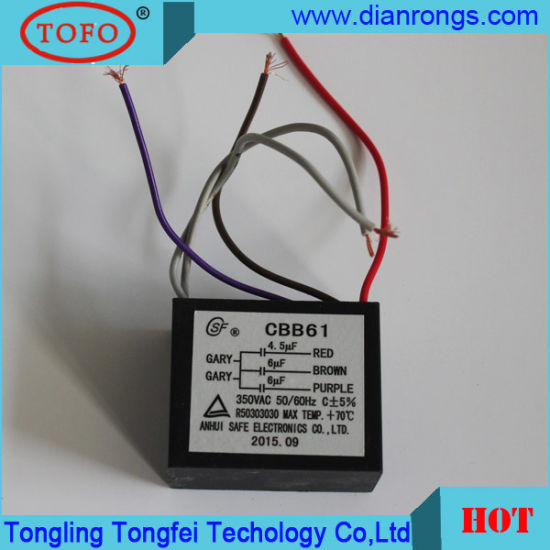 china cbb61 fan capacitor with 5 wires for motor start motor run HVAC Capacitor Wiring cbb61 fan capacitor with 5 wires for motor start motor run