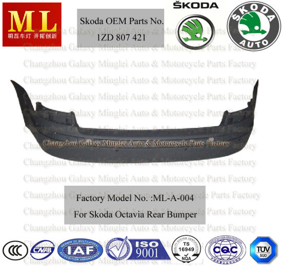 Hot-Sale Auto Rear Bumper for Skoda Octavia From 2004-2ND Generation (OEM parts No.: 1ZD 807 421)